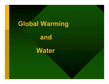 Global Warming and Water Resources