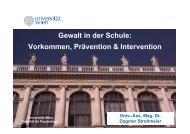 Gewalt in der Schule: Vorkommen, Prävention & Intervention