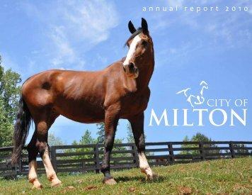 2010 City of Milton Annual Report