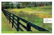 Executive Summary - Cityofmiltonga.org