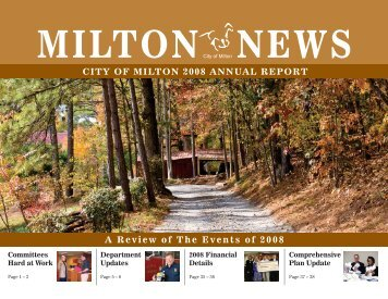 City of Milton Annual Report 2008