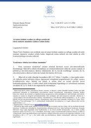 Minister Hanno Pevkur Justiitsministeerium info@just.ee Teie 11.06 ...