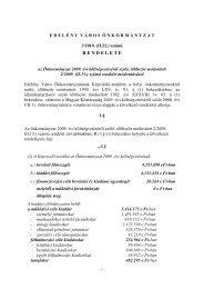 az Önkormányzat 2009. évi költségvetéséről szóló ... - Edelény