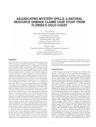 adjudicating mystery spills, a natural resource damage claims case ...