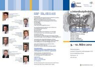 2.Interdisziplinärer Kurs für Rhinobasis-Chirurgie 9. - 10. März 2012