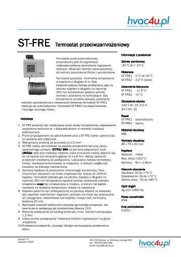 ST-FRE Termostat przeciwzamrożeniowy - hvac4u.pl