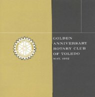 Golden Anniversary Rotary Club of Toledo - May, 1962 - It works!