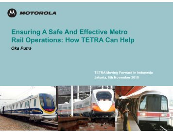 How TETRA Can Help