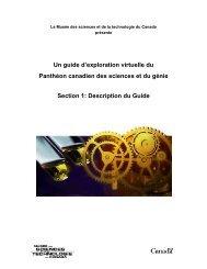 Introduction - Musée des sciences et de la technologie du Canada