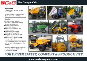 Dumper Cab Brochure - Machinery Cabs
