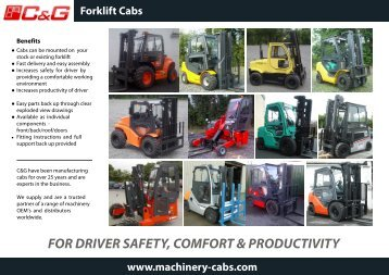 forklift brochure - Machinery Cabs