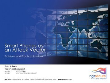 Smart Phones As An Attack Vector – ISACA UK
