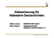 Gütesicherung für Halbstarre Deckschichten - VSVI