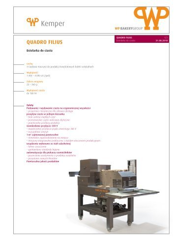 QUADRO FILIUS - WP BAKERYGROUP