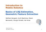 Basics of LSQ Estimation, Geometric Feature Extraction Introduction ...