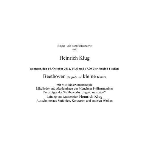 Heinrich Klug - Gesellschaft Freunde der Musik