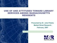 survey's results - Massachusetts Board of Library Commissioners ...