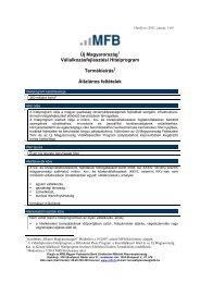 Új Magyarország Vállalkozásfejlesztési Hitelprogram Termékleírás