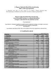 2007 tőzsdei gyorsjelentés I. félév - Magyar Fejlesztési Bank Zrt.