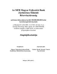 Tájékoztató MFB Zrt. HUF-kötvényprogram 2009 - Magyar ...
