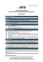 Termékleírás ÖKIF - Magyar Fejlesztési Bank Zrt.