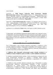 Szerződés - Magyar Fejlesztési Bank Zrt.
