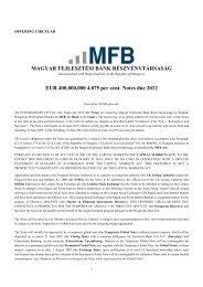 EUR 400 M 4.875 per cent Notes due 2012 - Magyar Fejlesztési ...