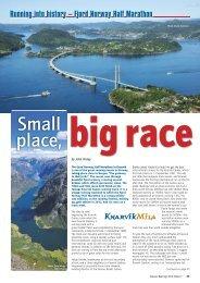 Fjord Norway Half Marathon - Distance Running magazine