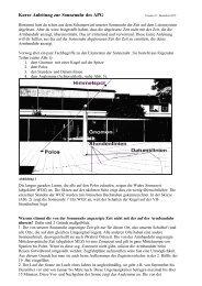 Kurze Anleitung zur Sonnenuhr des APG - Apostelgymnasium