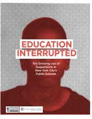 EDUCATION INTERRUPTED - New York Civil Liberties Union