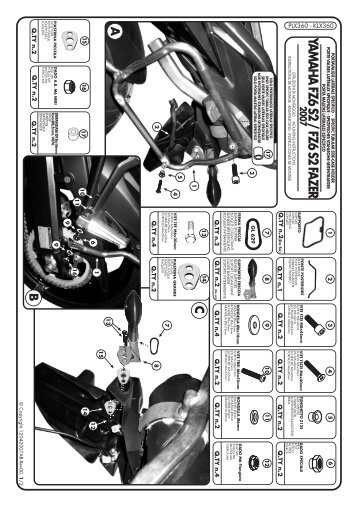 YAMAHA FZ6 S2 / FZ6 S2 FAZER2007 - MOTO S+P