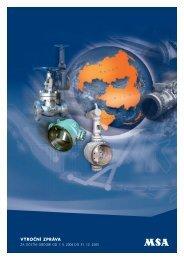 VÝROČNÍ ZPRÁVA - MSA - Výrobce armatur