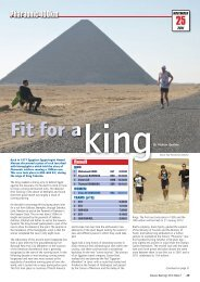 Distance Running 2012 edition 1: Fit for a king