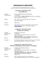 Schweissprøver i 5 – klub regi 2003 - Dansk Vizsla Klub