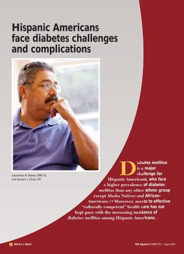 Hispanic Americans face diabetes challenges and ... - CECity
