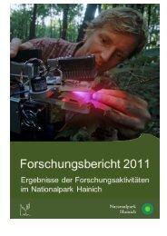 Forschungsbericht - Nationalpark Hainich
