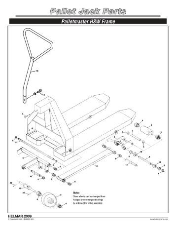 Pallet Jack Parts Bishamon BS-55 Frame