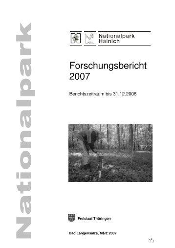 Forschungsbericht 2007 - Nationalpark Hainich