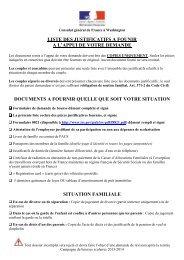 (Liste des pièces justificatives 2013) - Consulat Général de France à ...