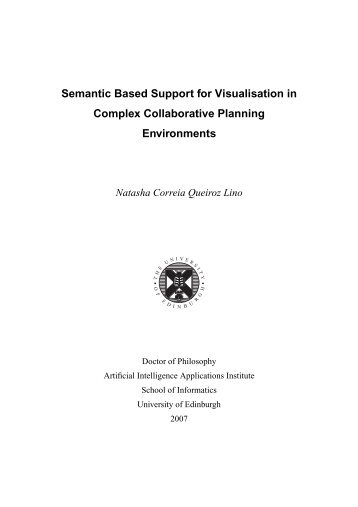 PhD Thesis - Artificial Intelligence Applications Institute - University ...