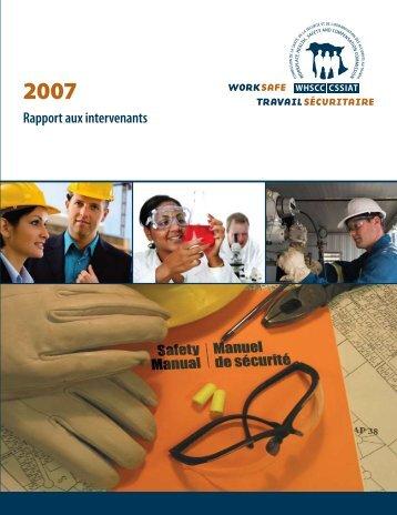Report to S Rapport aux intervenants - Travail sécuritaire NB