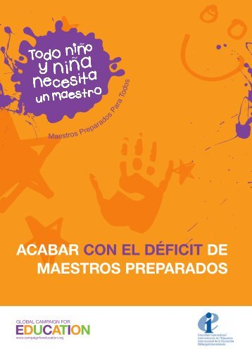 acabar con el déficit de maestros preparados - Global Campaign for ...