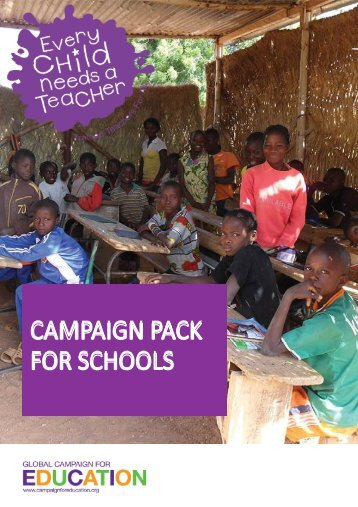 School Pack (PDF) - Global Campaign for Education