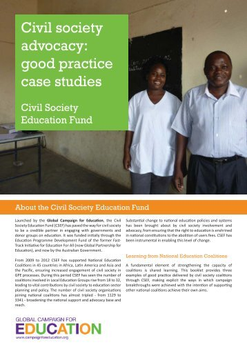 Good practice case studies - Global Campaign for Education