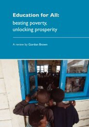 beating poverty, unlocking prosperity - Global Campaign for Education