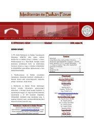 Mediterrán és Balkán Fórum - 5. szám - PTE Egyetemi Könyvtár