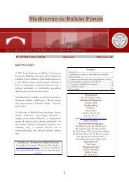 Mediterrán és Balkán Fórum - 12. szám - PTE Egyetemi Könyvtár