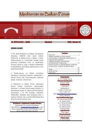 Mediterrán és Balkán Fórum - 7. szám - PTE Egyetemi Könyvtár