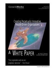 Creating Innovative Organizations, Sexton & McDermott