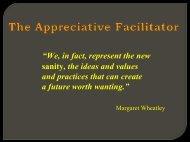 The Appreciative Facilitator - Office of Human Resource Development